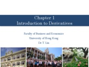 Chapter 1 - Intro to Derivatives