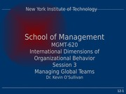 MGMT-620 Session 3 Managing Global Teams