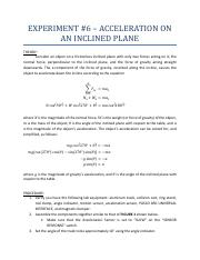 4A - 06 - INCLINED PLANE - HANDOUT