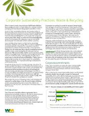 Corporate Sustainability Practices - Waste Reduction Report