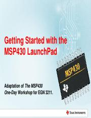 Getting Started with the MSP430G2553 Value-Line LaunchPad