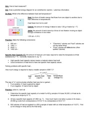 03 Notes - Heat and Specific Heat Capacity