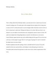 dr adler essay how to mark a book