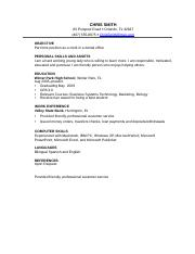 Example of Career Resume Template #1 - ASHLEY HERNANDEZ.docx