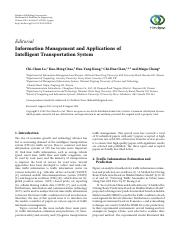 Information Management and Applications of Intelligent Transportation System