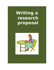 Writing a research proposal.doc