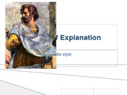 Four Types of Explanation