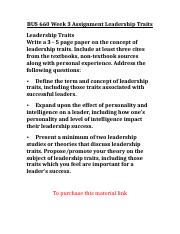 BUS 660 Week 3 Assignment Leadership Traits.doc