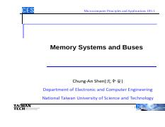 Lec7 - Memory Systems and Buses