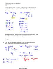 6.4 Applications of Linear Functions