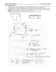 Beam Shear Problem Set 2