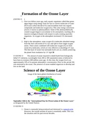 9-03-1 Formation of the Ozone Layer
