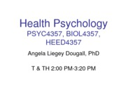 1 What is Health Psychology