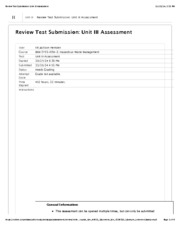 HazMat Waste Unit III Assessment