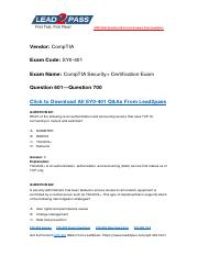 Updated Lead2pass CompTIA SY0-401 Braindump Free Download (601-700).pdf