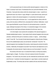 Final paper proposal- Wretched