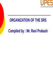 Organization of the SRS.pptx