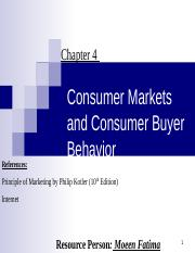 4 Consumer Markets & Consumer Buyer Behavior.ppt