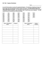 Worksheet_on_Frequency_Distributions