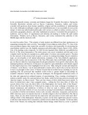 Bacon, Descartes, and Locke
