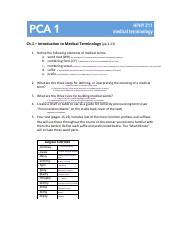 PCA 1 (Intro to Medical Terminology)-1 (4) pdf - Ch 1