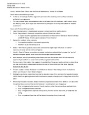 Reading and Lecture Notes - Currie