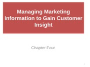 4 P o M Managing Marketing Information to Gain Cus