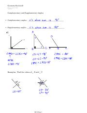 Geometry Review 1