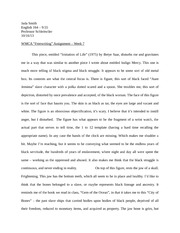 Imitation of Life Freewriting Paper