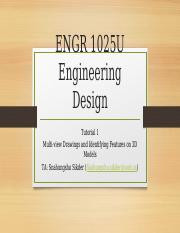 ENGR 1025 Tutorial 1