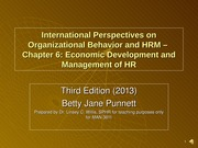 Punnett - Chap 6 -  Econ Dvlp and Mgt of HR - Narrated - 08-08-14 V02