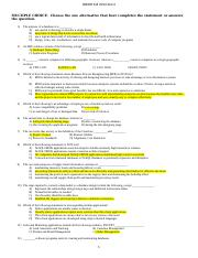 ids 200 test 2 Questions - Fall 2014 yellow version with   answers