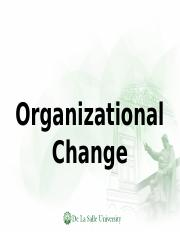 Chapter 13 Organizational Change.ppt