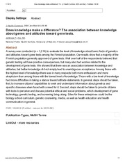 Does knowledge make a difference_ The association between knowledge about genes and attitudes toward