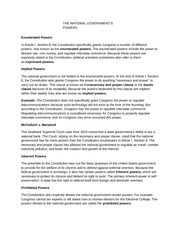 National Governments Powers notes