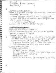 COM 391 - Social Learning Theory Notes