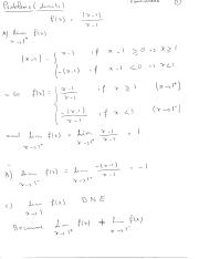 Section 10.1 Limits (Problems)