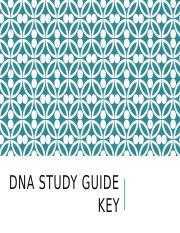 DNA Study Guide Key.pptx