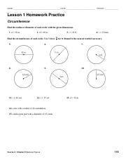 hw march 1 circumference pdf name date period lesson 1 homework