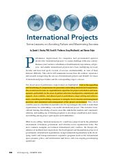Kealey et al_2006_International projects - some lessons on avoiding failure and maximizing success.p