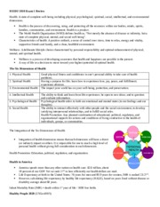H EDU 1010 Chapter 1 notes