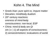 Chapter 4 Mind from Kohn