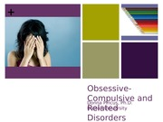 Abnormal Psychology Obsessive Compulsive and Related Disorders