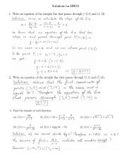 Solutions for HW01