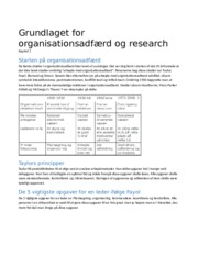 0. Grundlaget for organisationsadfærd og research
