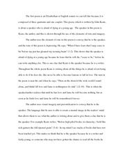 151 Final Exam - John Keats essay