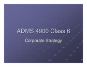 ADMS4900 Corporate Strategy