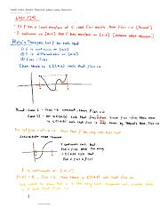Math 1013 Rolle's Theorem, Mean value theorem
