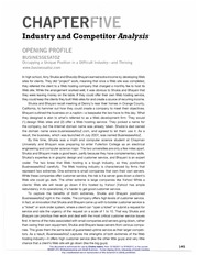Chapter5IndustryandCompetitorAnalysis
