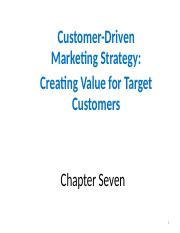 7  AUI P o M  Customer-Driven Marketing Strategy Segmebtation Targeting and psitioning.ppt